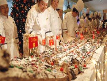 Самый длинный рождественский торт в мире
